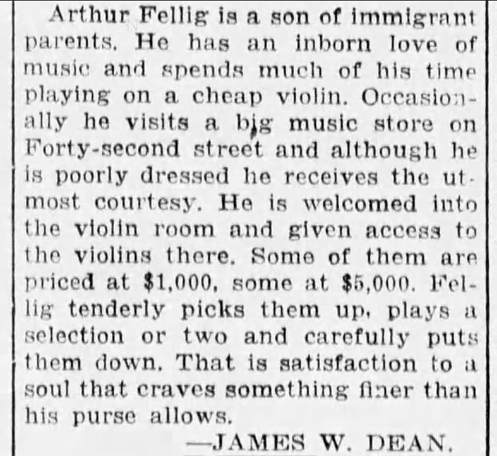 "James W. Dean, ""In New York,"" Palm Beach Post, November 19, 1924."