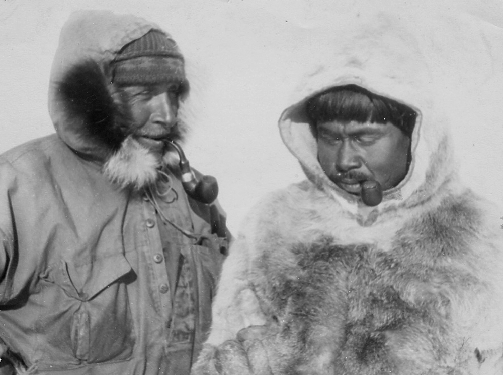 Photograph of a later Wegener expedition, 1930. Wikimedia Commons, Alfred Wegener Institute.