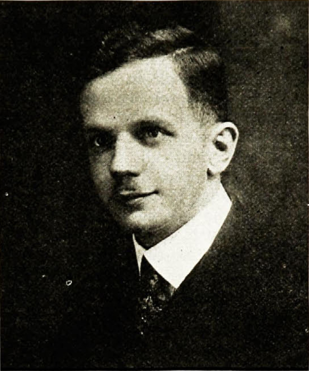 A black and white photograph of Walter Francis White as a young man in 1918.