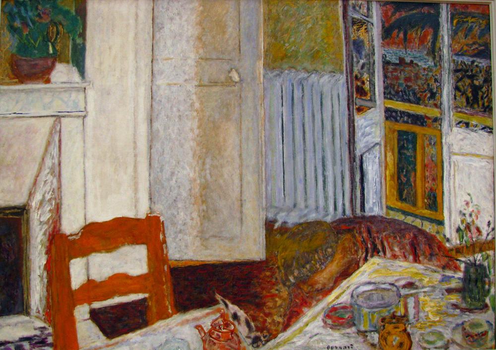 """White Interior,"" by Pierre Bonnard, c. 1920. WikiArt."