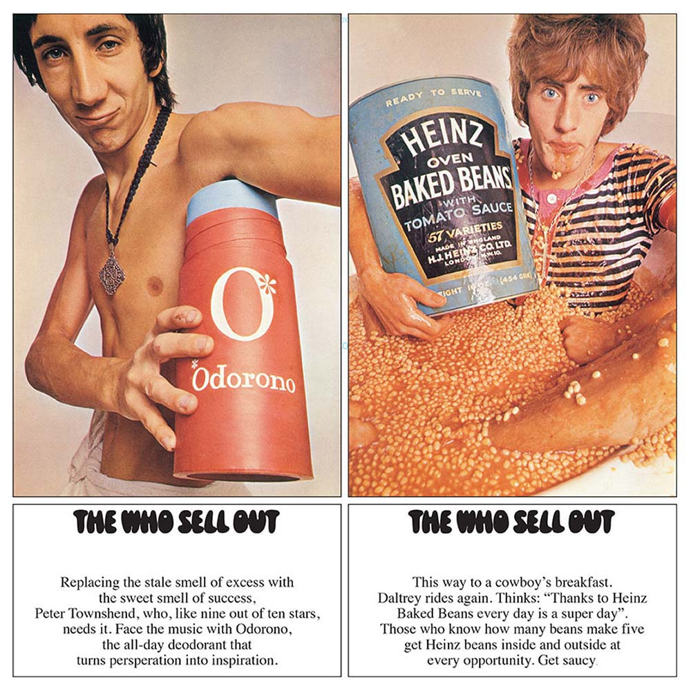 """""""The Who Sell Out"""" by The Who, 1967. Design by David King and Roger Law."""