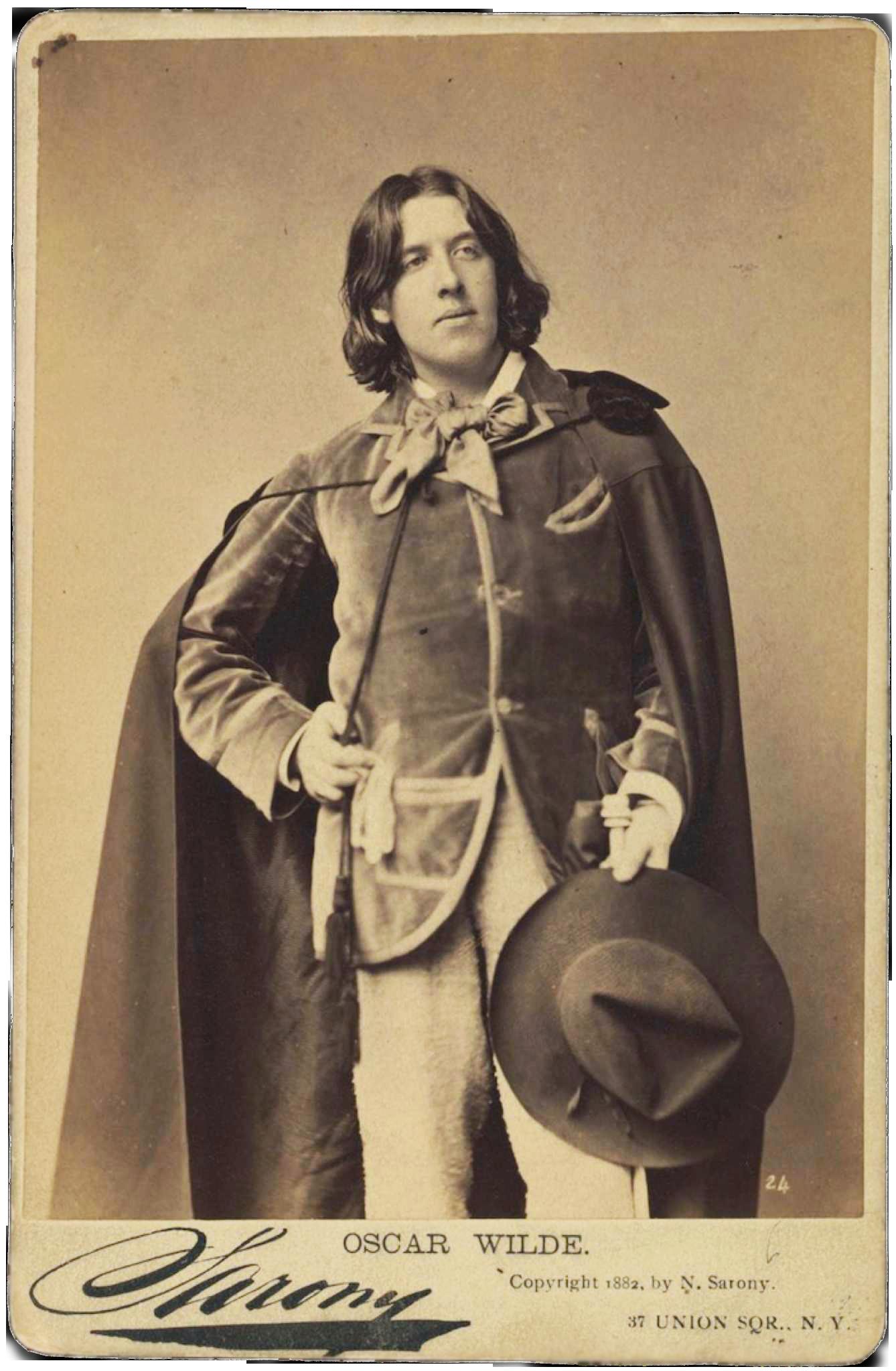 Oscar Wilde Carte De Visite By Napoleon Sarony 1882