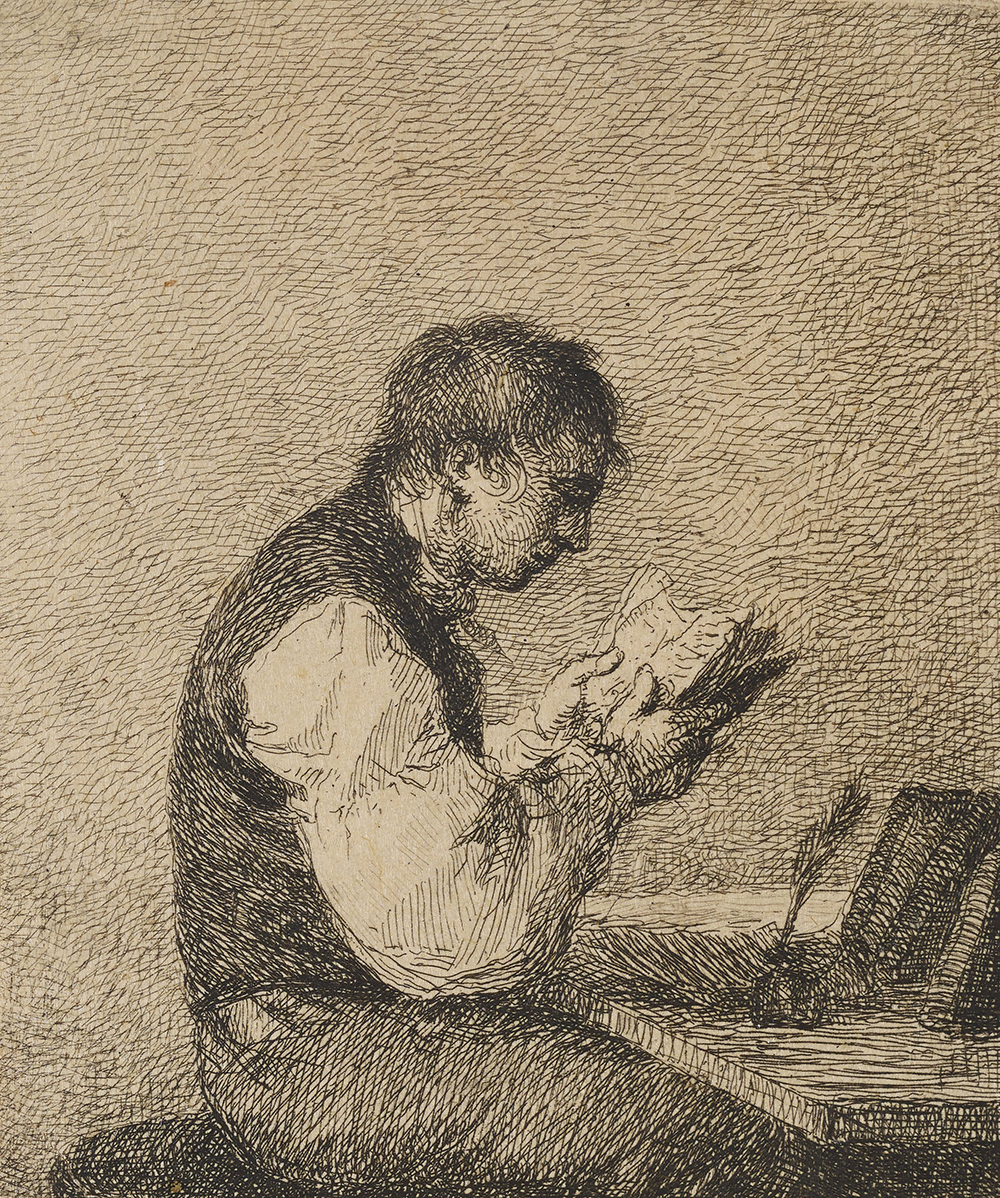 Young Man Reading, by Michal Plonski, 1802. The Minneapolis Institute of Art, Gift of Elizabeth, Julie, and Catherine Andrus in memory of John and Marion Andrus.