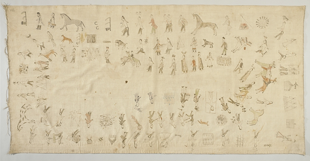 Winter count, by Long Soldier (c. 1847–c. 1925). National Museum of the American Indian.