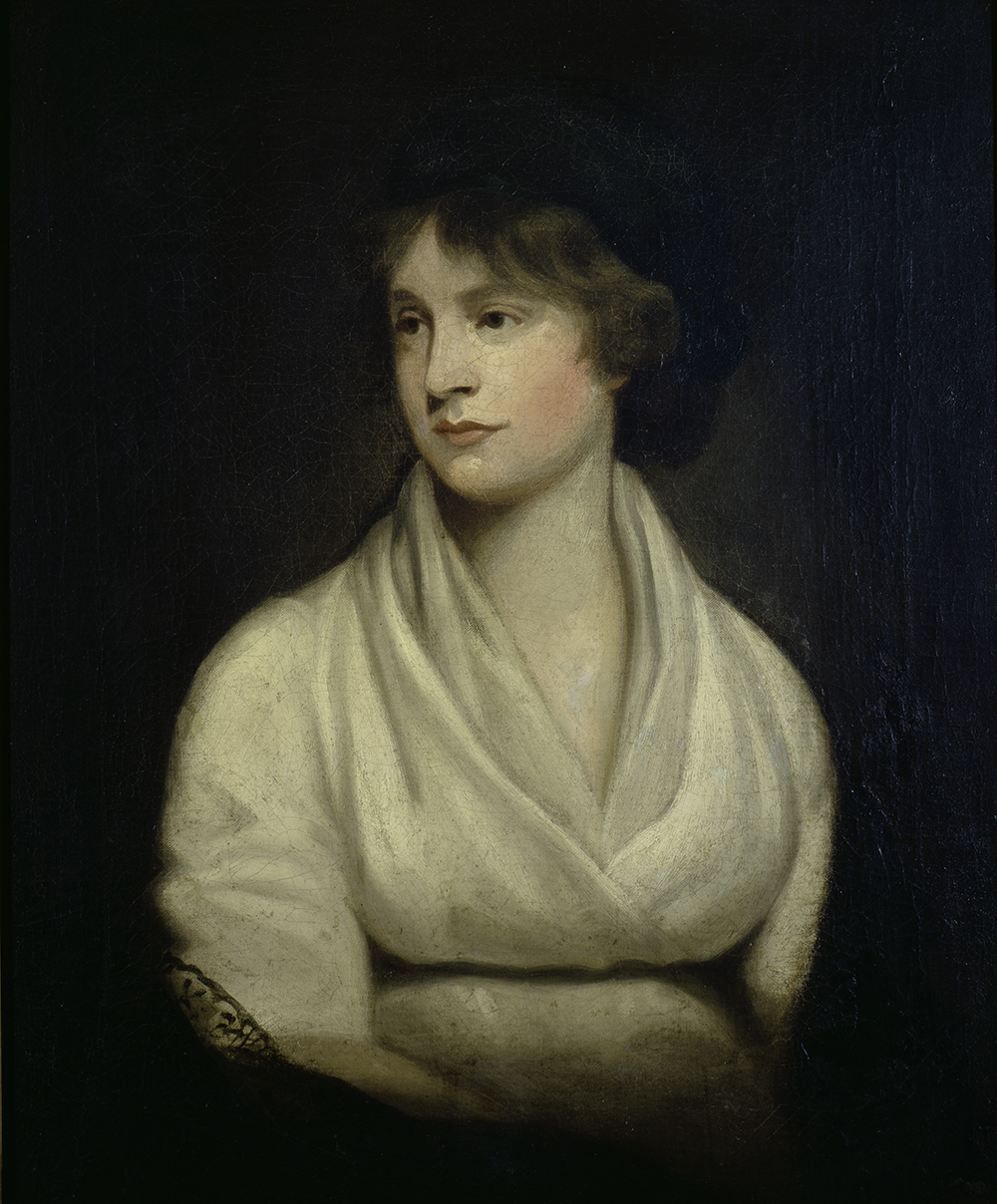 Mary Wollstonecraft, by John Opie, 1804. New York Public Library, Carl H. Pforzheimer Collection of Shelley and His Circle.