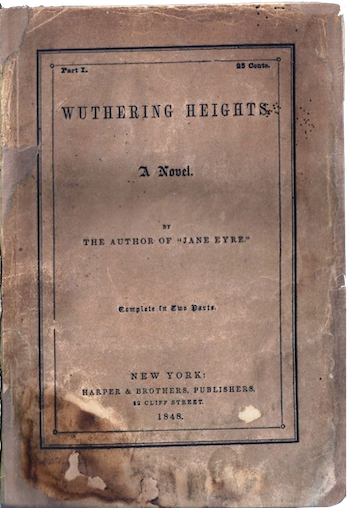 Original title page for Wuthering Heights