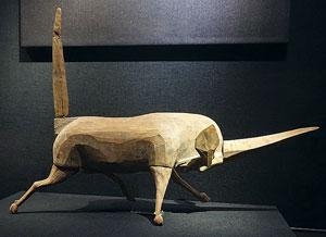A scultpure of a Xiezhi